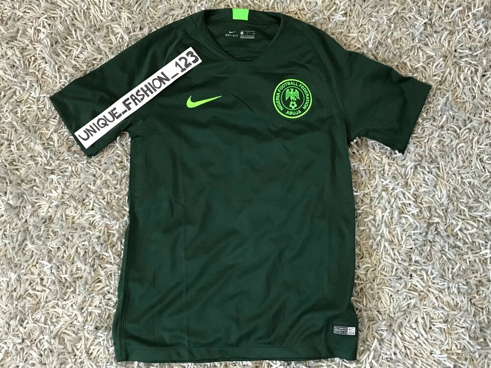 Details about NIKE NIGERIA WORLD CUP 2018 AWAY JERSEY SHIRT S SUPER EAGLES  SMALL - AUTHENTIC 51e0bea19