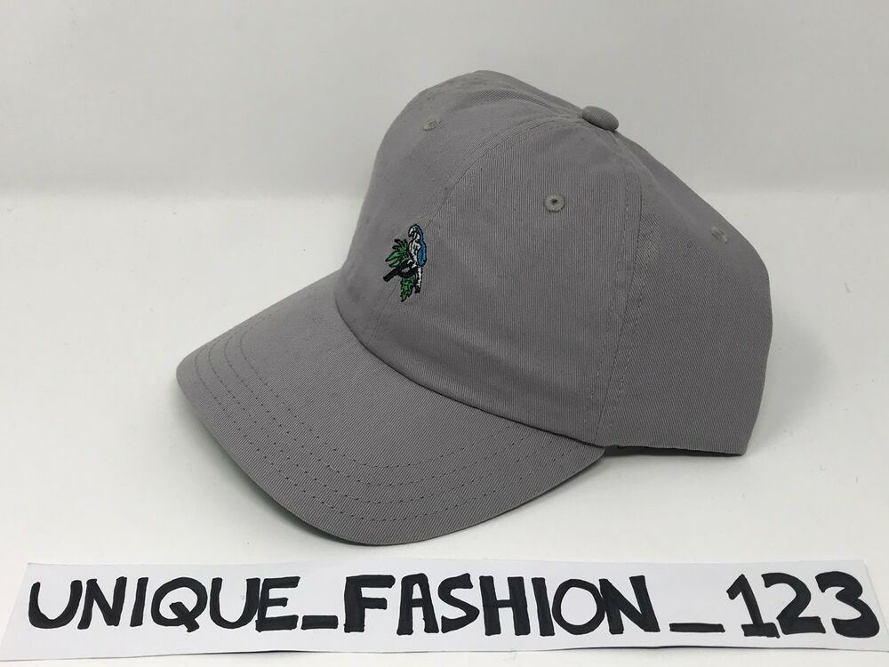 7a66dfd95953 Details about PALACE SKATEBOARDS SS15 6 PANEL P CAMP HAT CAP GREY MINI  PARROT CURVED PEAK 2015