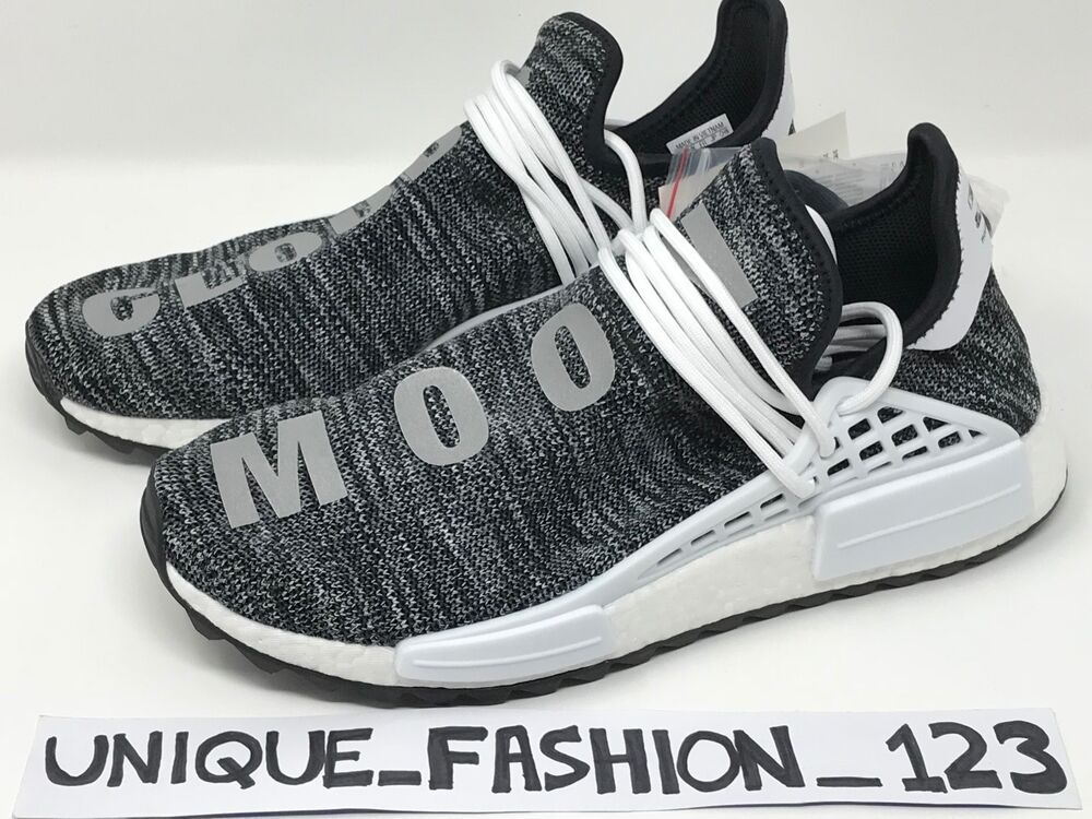 d144f8da9 Details about ADIDAS NMD HUMAN RACE PHARRELL HU TR PW UK 7 8 9 10 TRAIL BLACK  WHITE OREO GREY