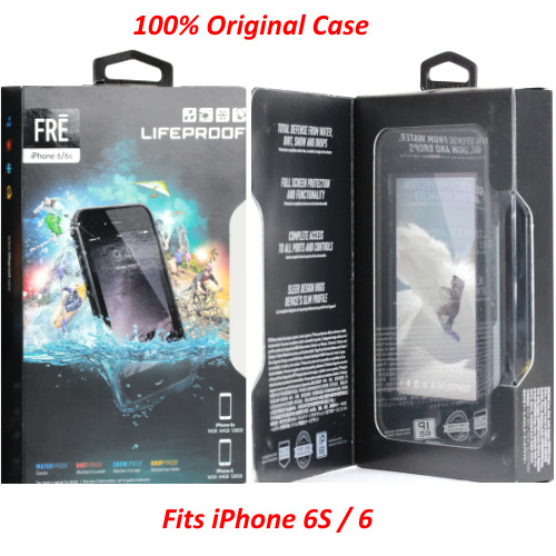 Authentic LifeProof Waterproof Fre Case Cover For iPhone 6S / iPhone 6 [BLACK]