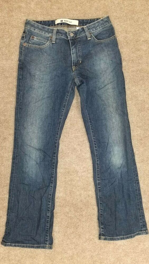 63fcfbebdd9 Details about BABY PHAT Junior s Blue Boot Cut Cotton Denim Jeans Pants sz 9