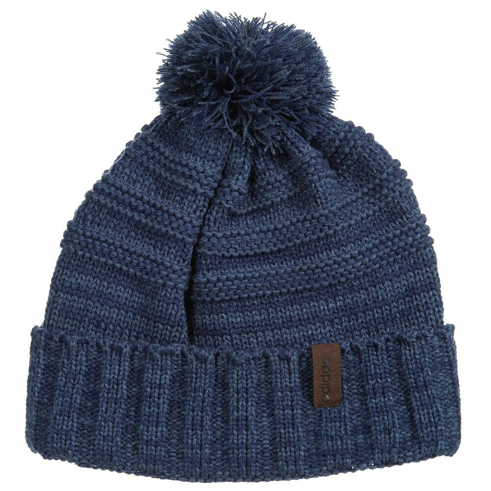 eeafed7d3be Details about NEW adidas Recon Beanie Pom Pom Unisex Dark Blue Night Marine   26 E57