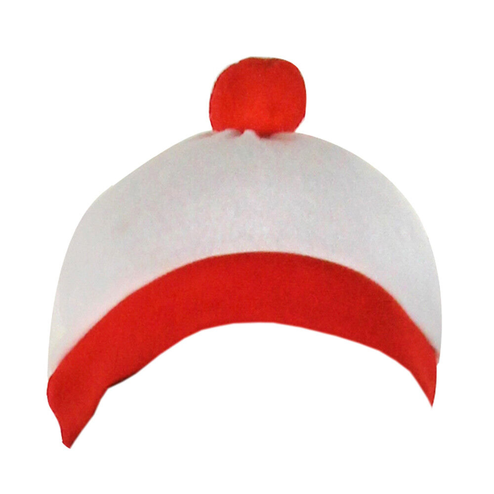 9c0aacf0d00 Details about WHITE AND RED BOBBLE HAT ADULT WORLD BOOK DAY FANCY DRESS  COSTUME ACCESSORY