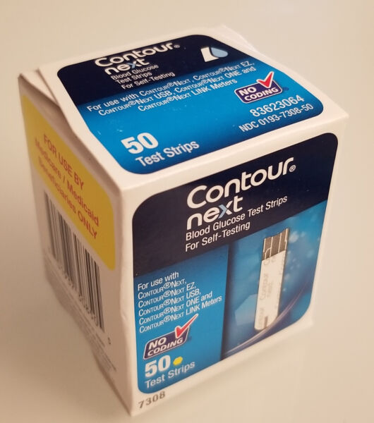 Contour NEXT Test Strips - 50 Count (1 Box of 50) *NEW*