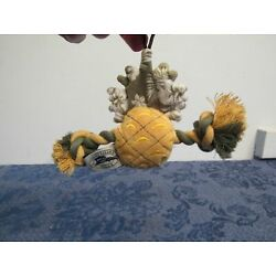 Tommy Bahama Dog Chew Toy Squeaker Hanger Decoration