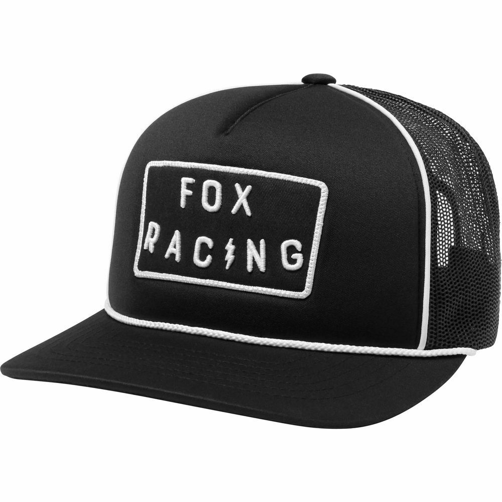 3830cf2a592 Details about FOX RACING BOLT TRUCKER HAT BLACK ADJUSTABLE LOGO CAP WAS   24.00 NOW  17.99!