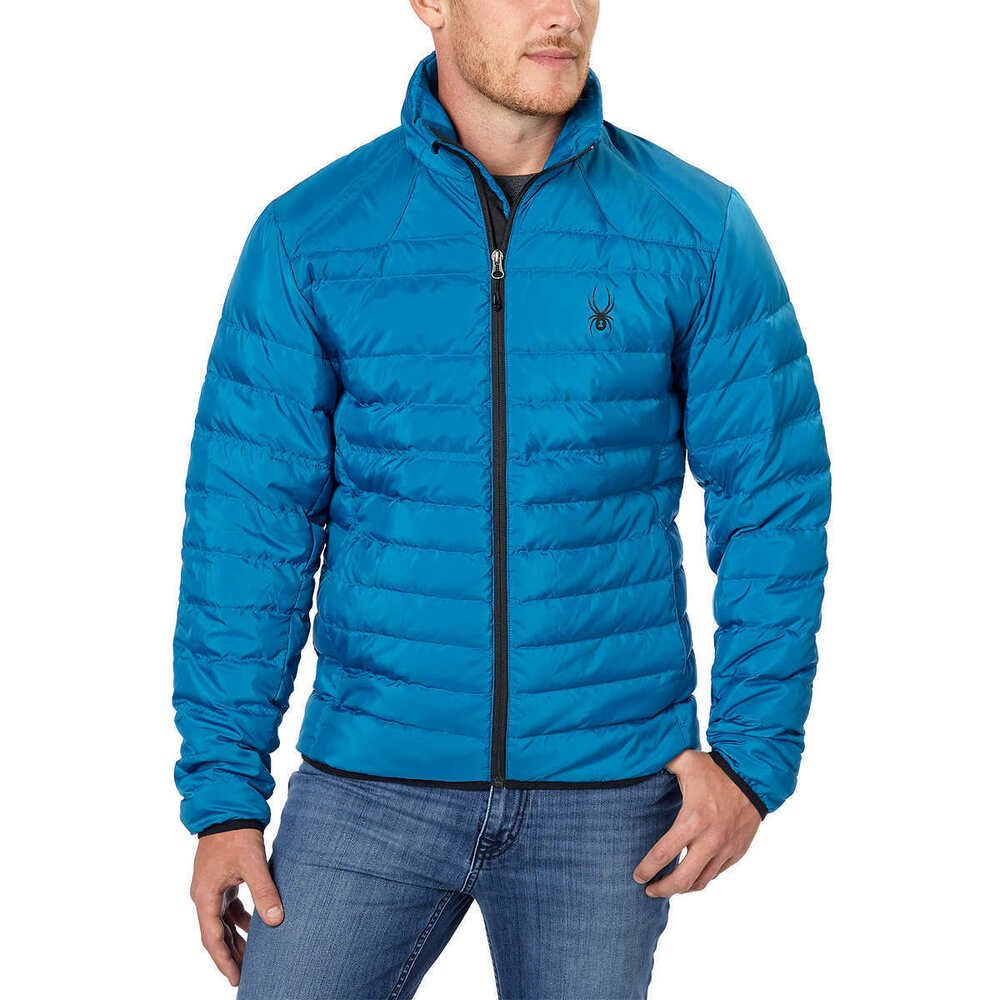 Details about NWT Men s Blue Spyder Prymo Down Jacket Ski Snowboard Size  Large Free Shipping 8a7c6c1fc033