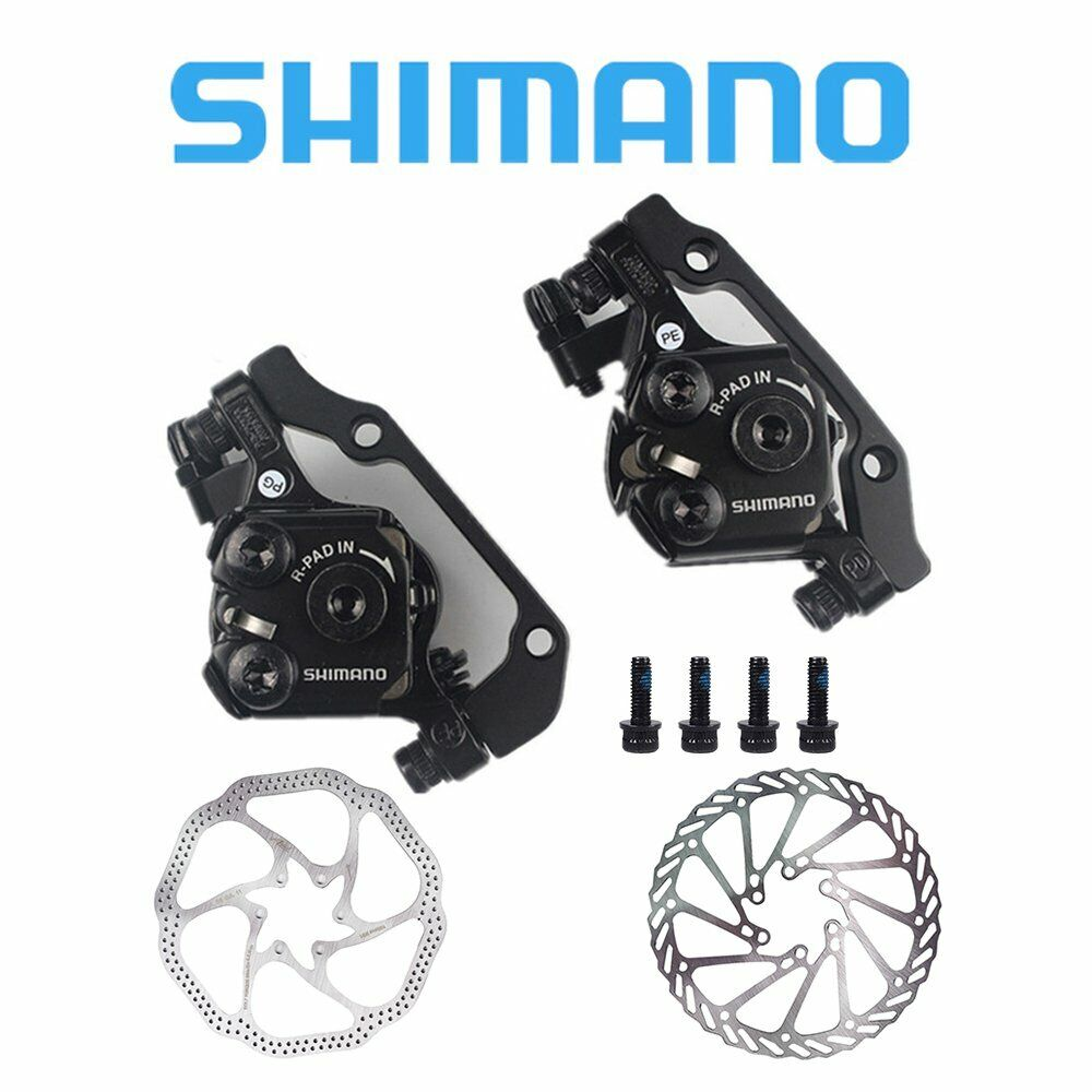 b858170f6a0 Details about Shimano BR-M375 Mechanical Disc Brake Front&Rear Calipers w/  160mm Rotors