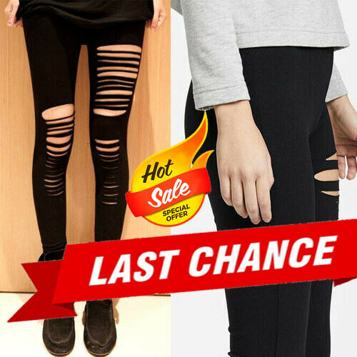 b6816391a3c59 Details about 2019 Fashion Women Simple Solid Color Black Cut Out Stretch  Skinny Leggings OS