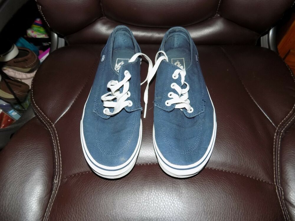 Details about Vans Men s ERA Classic Off the Wall Vans Skate Shoes Sneakers  Navy Blue Size 8 42becbdd2