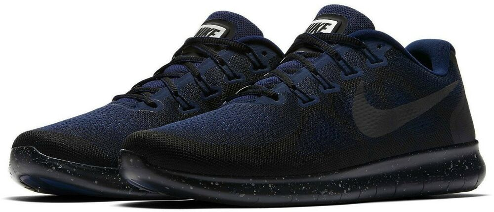 288b3999eda0e2 Details about Nike Free RN 2017 Shield Men s Running Shoes AA3760 001  Obsidian Blue Size 14
