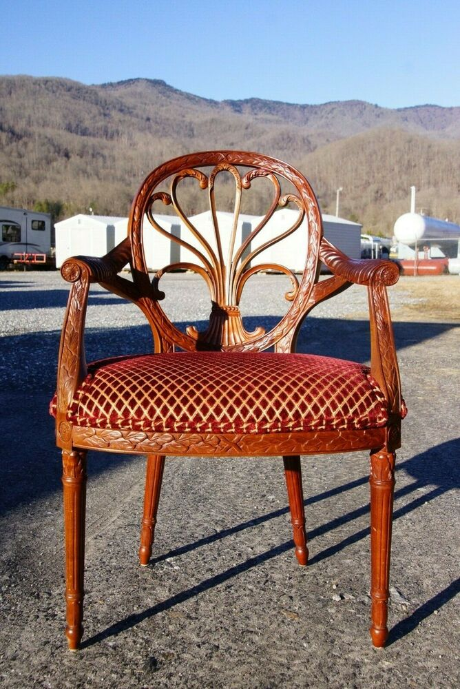 Fantastic Contemporary Carved Mahogany Accent Chair Anthemion Back Ncnpc Chair Design For Home Ncnpcorg