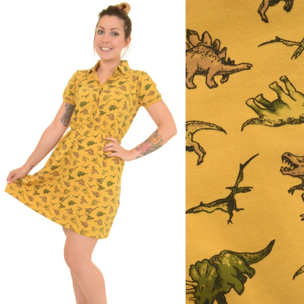 8695d921f7 Dinosaur Print Dress by Run and Fly