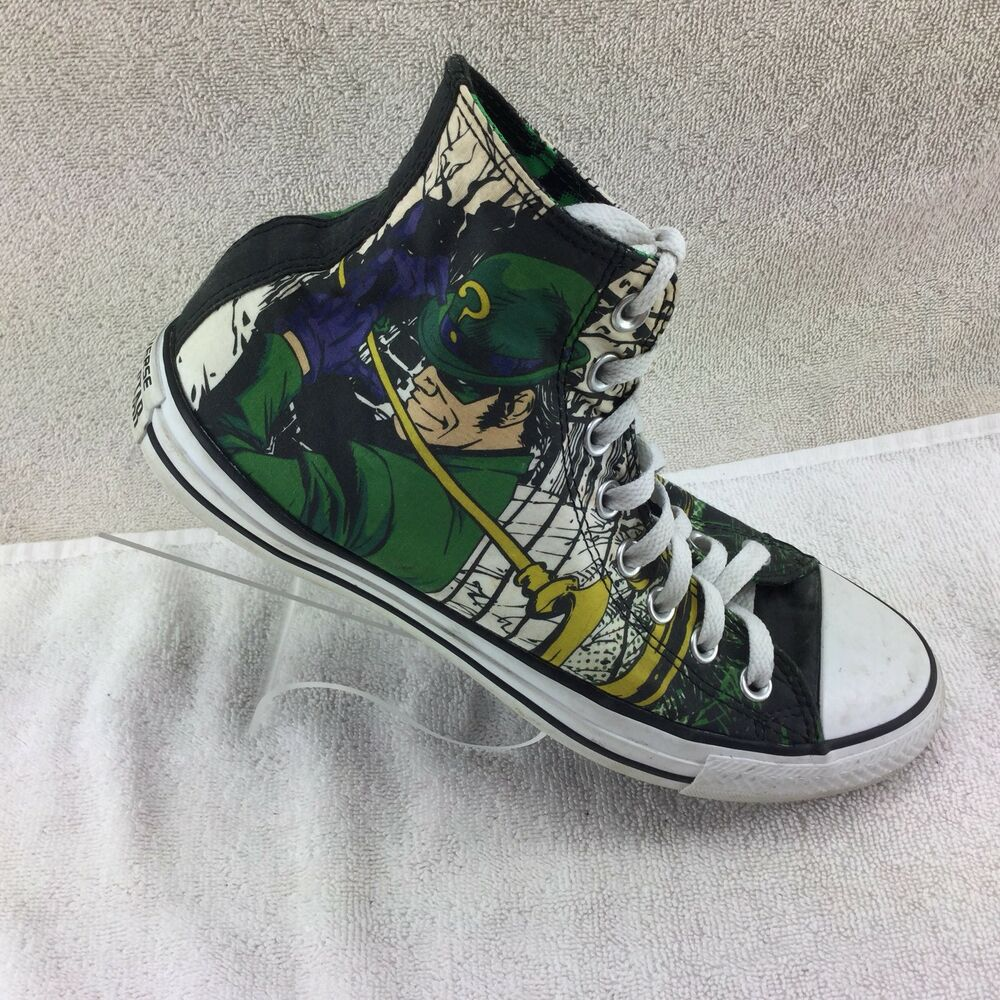 """8c812b5bede9 Details about Converse Chuck Taylor DC All Stars """"The Riddler"""" High Tops M7  W9"""