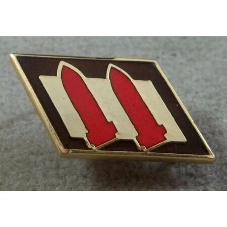 img-US Army 2nd Coast Artillery Patch Style Unit Crest Insignia - Clutchback