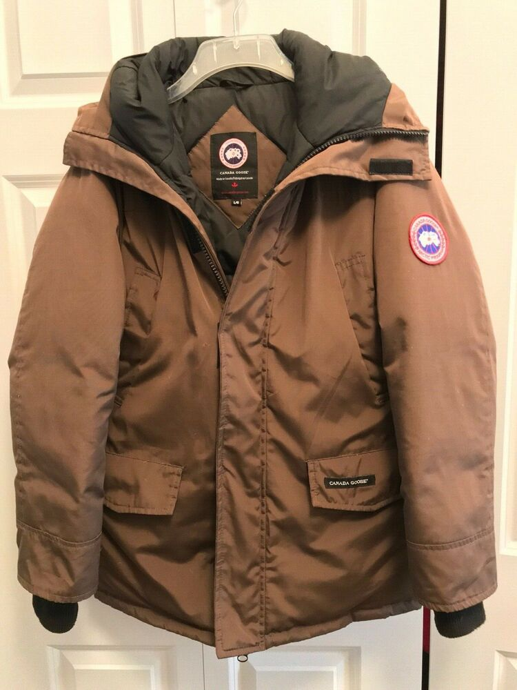 Canada Canadian Goose Parka Jacket Arctic Program Coat Brown Size Large  93b3599a0