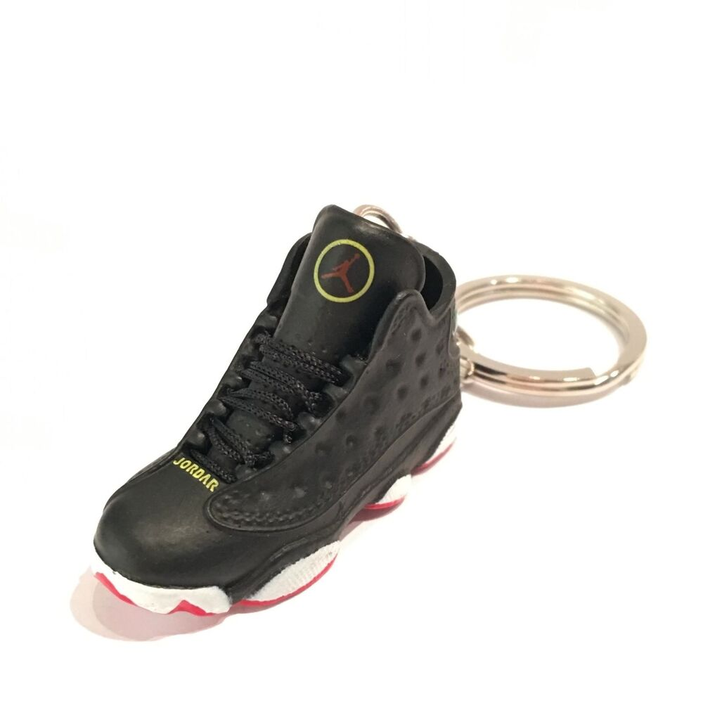 promo code 50849 59503 Details about madxo 3D MINI SNEAKER keychain nike Air Jordan 13 retro  Playoff real laces 25-08