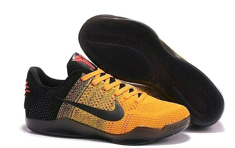 sports shoes 28a1b 30080 Details about Nike Kobe XI 11 Elite Low Bruce Lee Gold Yellow Black Red  Basketball Shoes 8 Men