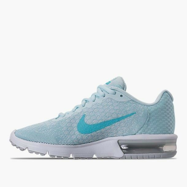 a327f233abccc Details about Nike Air Max Sequent 2 Women s Running (Size 5 - 12) Platinum    Blue 852465 014