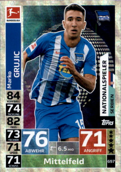 Voetbal Marko Grujic Topps Match Attax ACTION 18/19-374