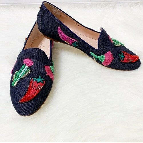 kate-spade-novelty-flat-prickly-pear-cactus-chili-peppers-rare-sz-7-new