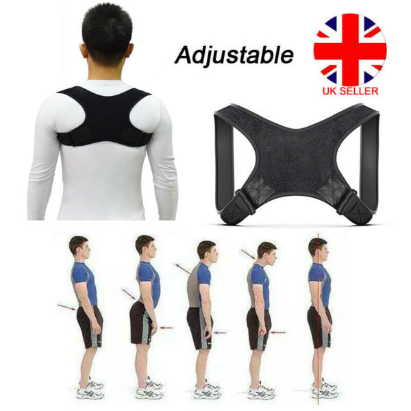 Body Wellness Posture Corrector Adjustable Shoulder Back Support Belt Mens Women