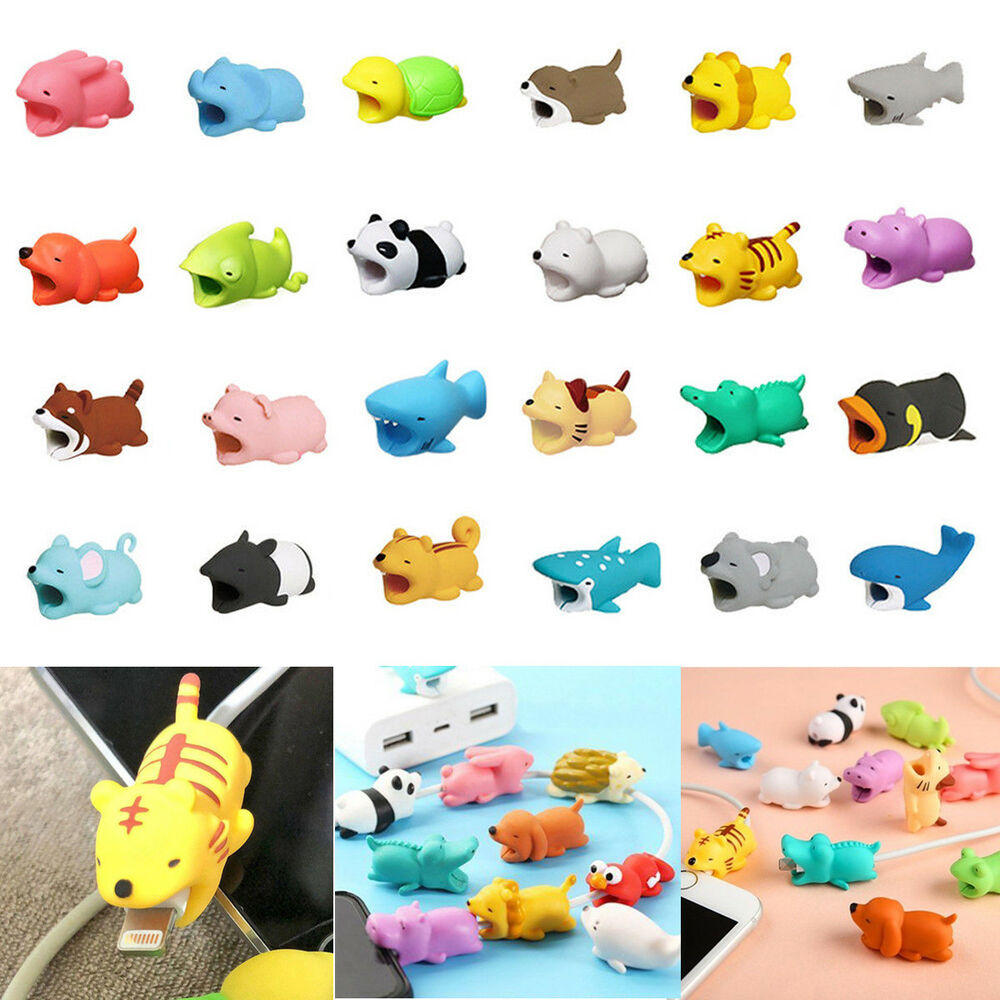31 Styles Animal Bite Cable Protector For Iphone Cable