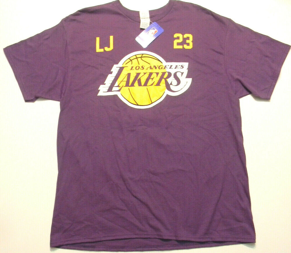 c736fb63abd8 Details about Delta Pro-Weight Purple Lakers X-Large T-Shirt LEBRON JAMES  23 New With Tags