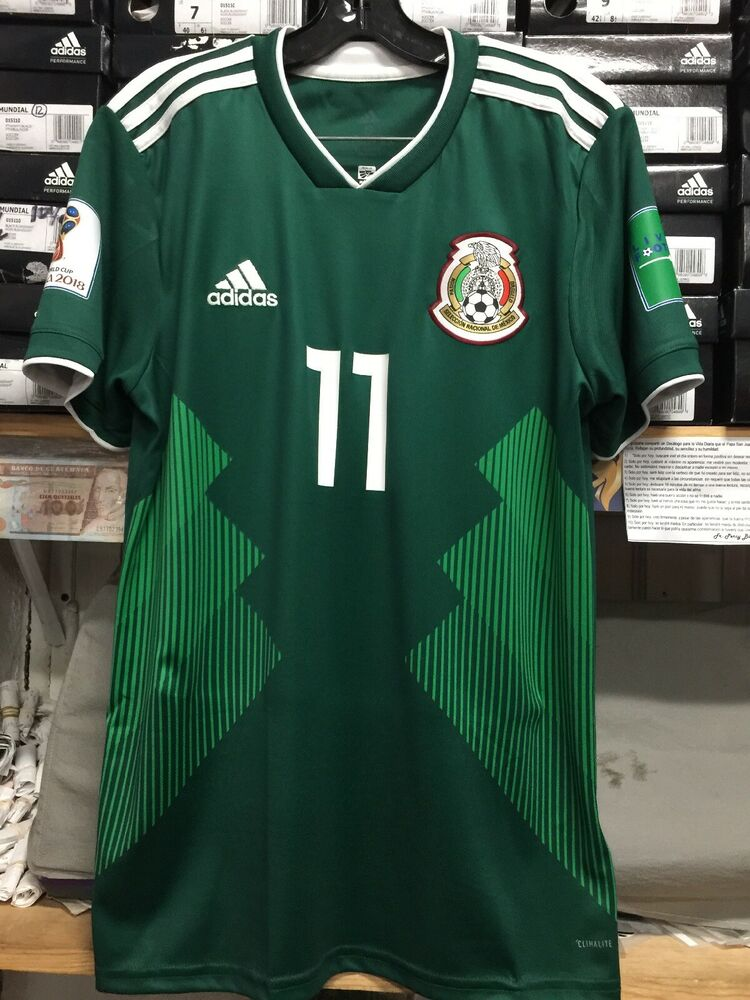 54320deb7a9 Details about Adidas Mexico Home Jersey  11 Carlos Vela Size Small Only