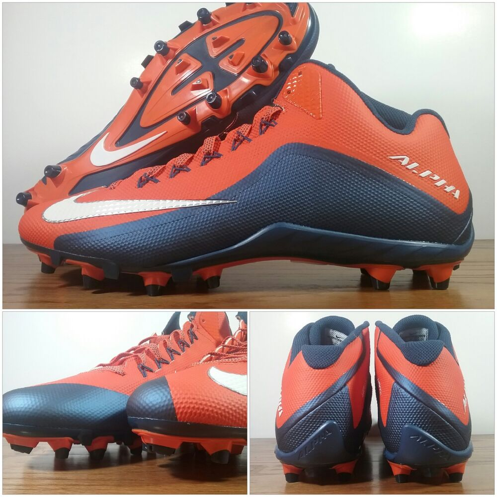 e19f4ceec Details about Nike Skin Alpha Pro 2 TD Mid Football Cleats 729444-810 Mens  Size 15 Orange Blue