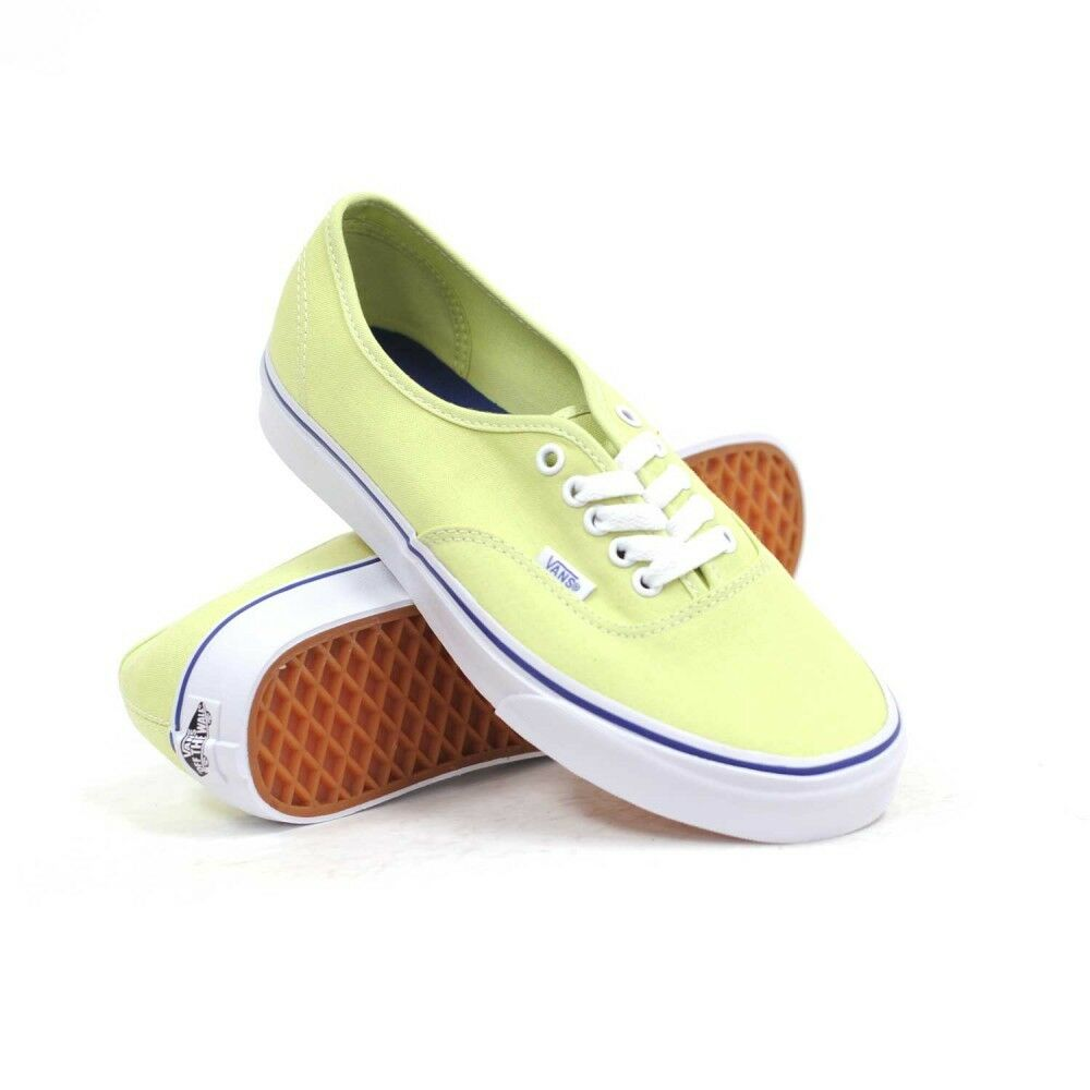 57801afa5d957a Details about Vans Off The Wall Authentic Shadow Lime Green True White Shoes  Mens 4 Womens 5.5