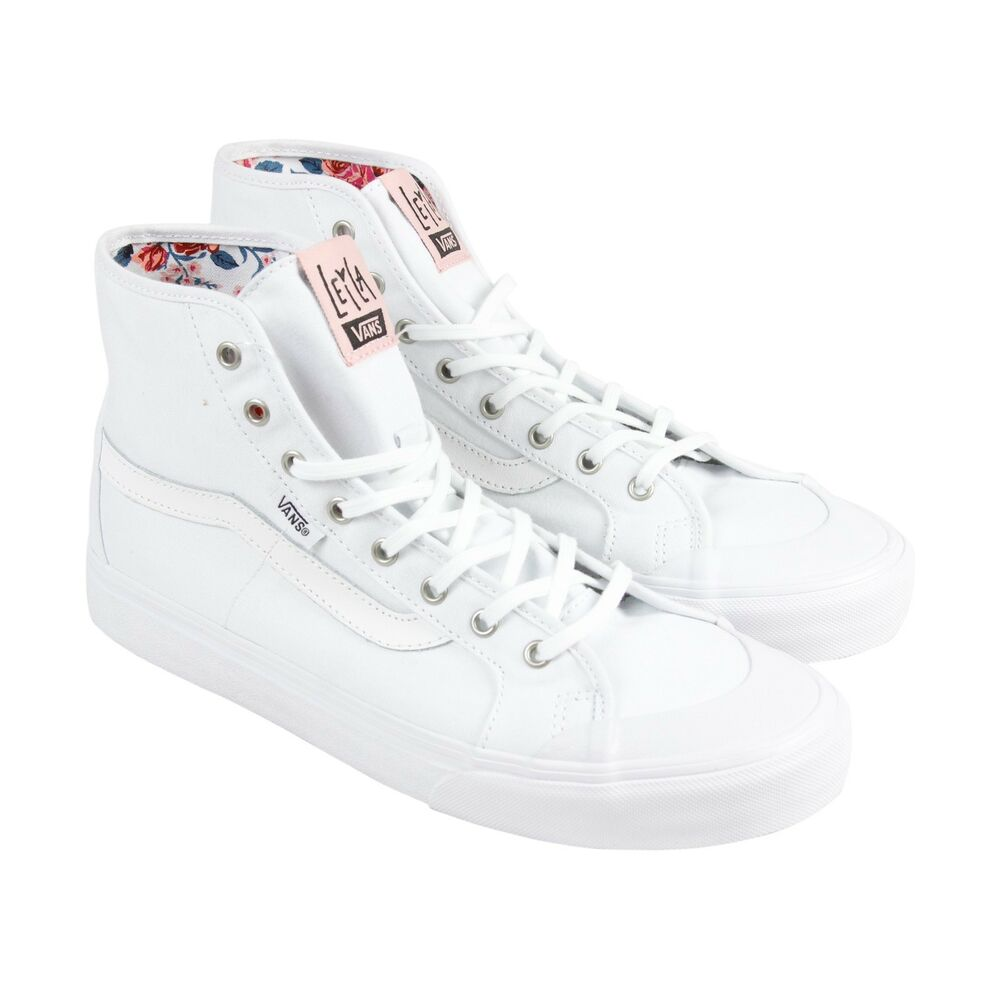 362720dd81 Details about Vans Off the Wall Womens Black Ball Hi Sf Surf Leila Hurst  True White Shoes 5