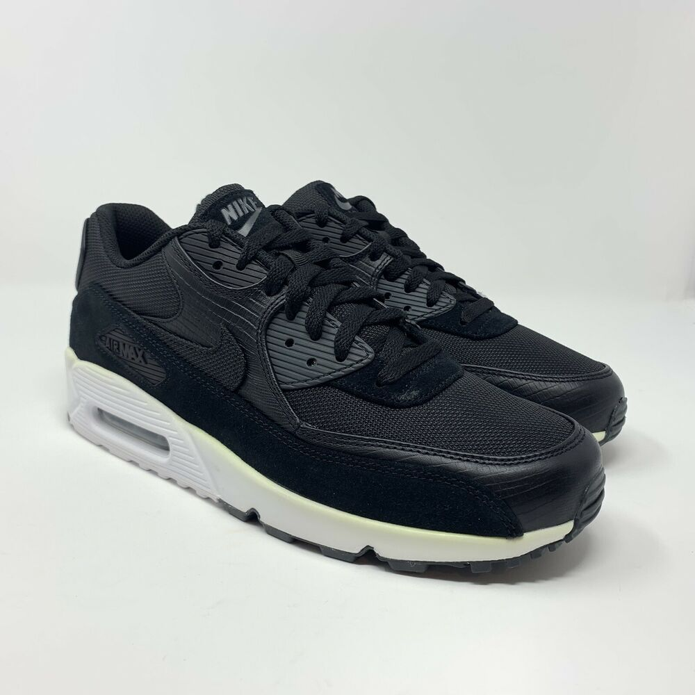 new concept d6caf 67e5b Details about Nike Men s Air Max 90 Premium Black White Sneakers Size 10.5  700155-014