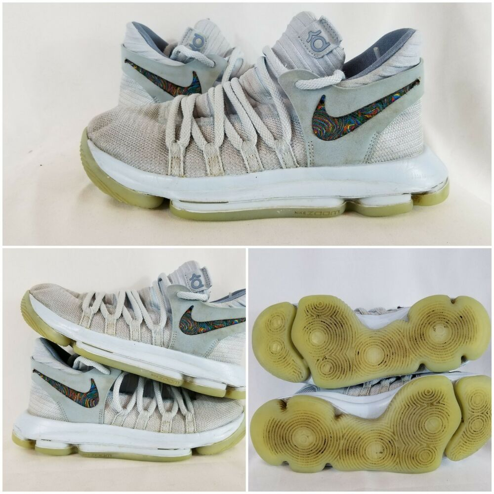 20f8bd802384 Details about Nike Zoom KD 9 Elite Men s Size 6 Kevin Durant White Light  Baby Blue Shoes