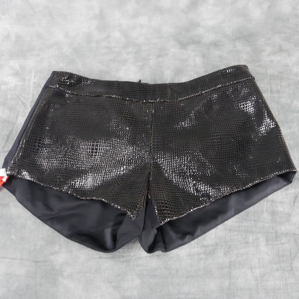 30458450533e1 Details about NWOT Mason Black Solid Hot Pants Size 2 ANB