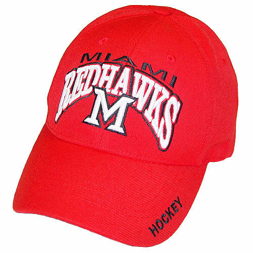 timeless design fd304 3a158 Details about Miami RedHawks Hockey Top of the World Red Klozer Adjustable  Cap