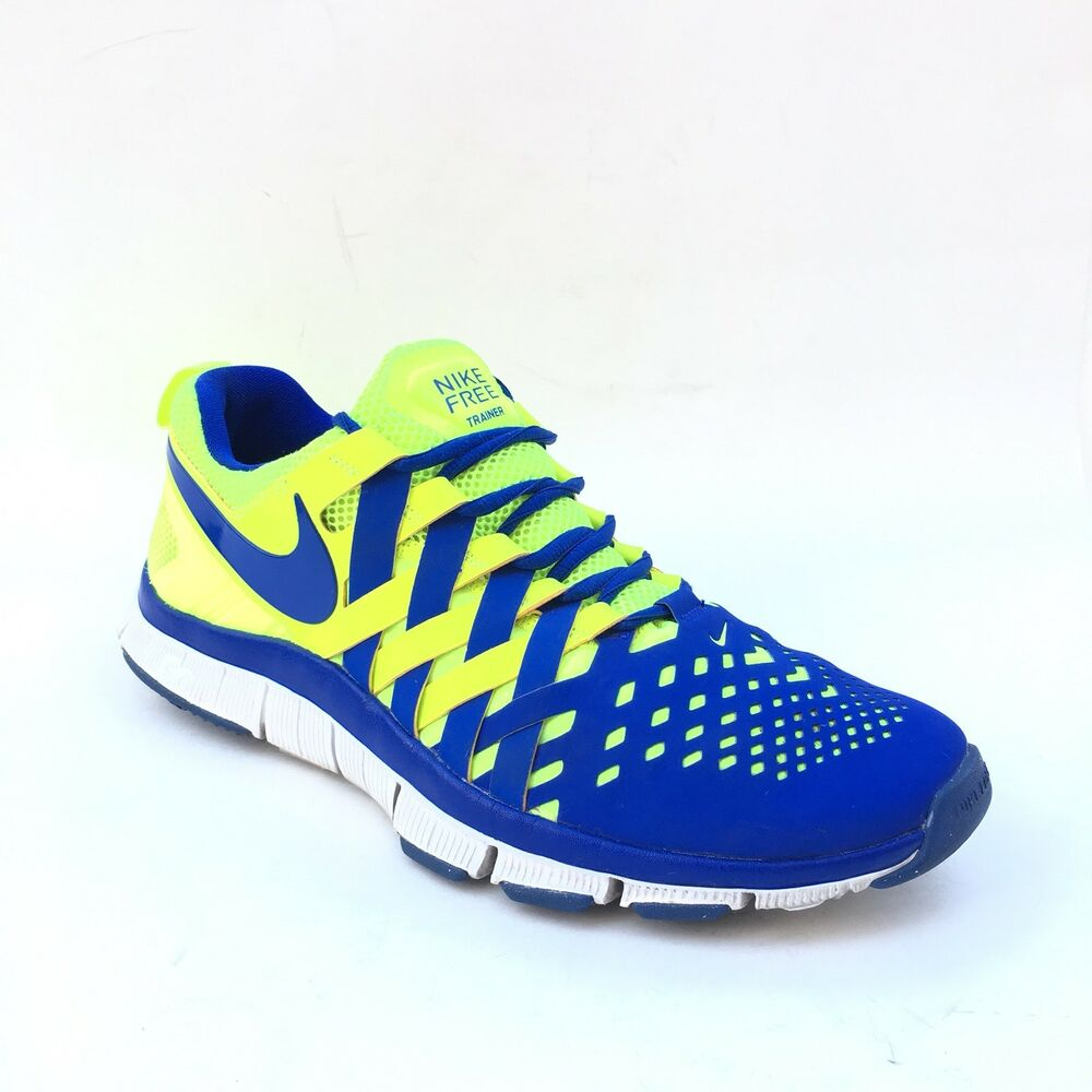 db5687edd7dd2 Details about Nike Free Mens Running Shoes Size 11 UK 10 EUR 45 Blue Nike  Trainer 5.0 Sneakers