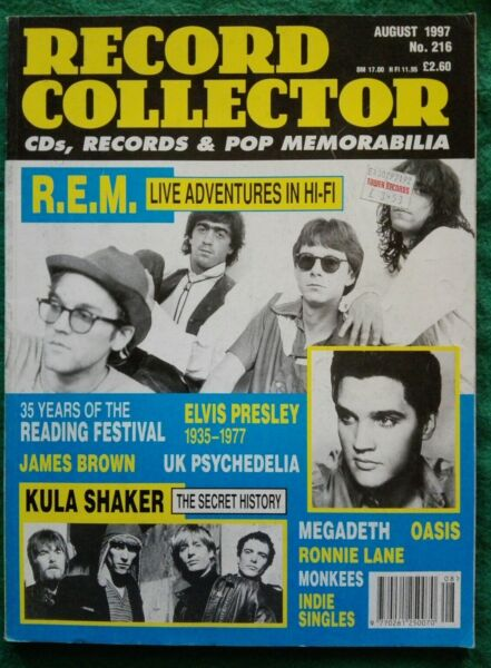 SUPERPREZZO! Record Collector n.216 august 1997 Elvis R.E.M. Megadeth Oasis 016
