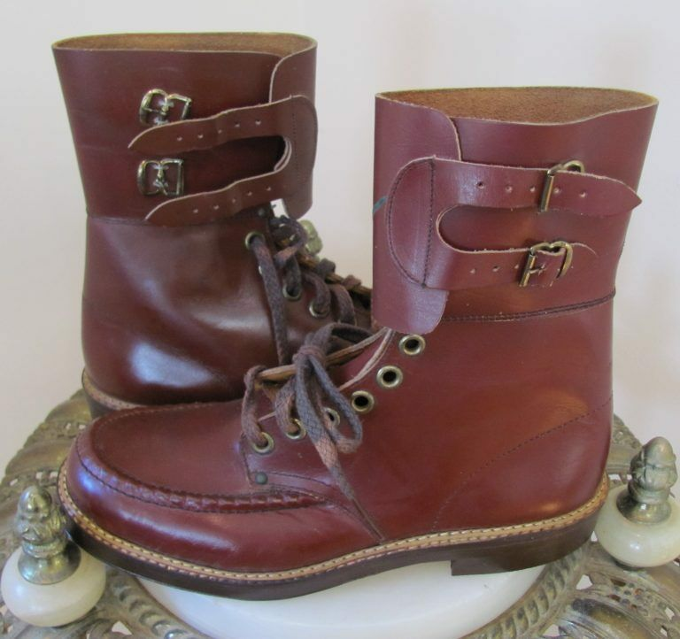 9ba0cef3edad Details about VTG 1950's DEADSTOCK Boy's Oxblood COMBAT HIGH-TOP BOOTS w/ RARE ARMY MAN Graphic