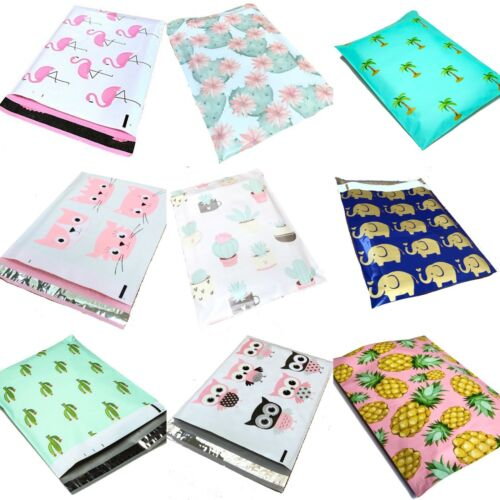 Designer Poly Mailers Plastic Envelopes Shipping Bags All Quantities