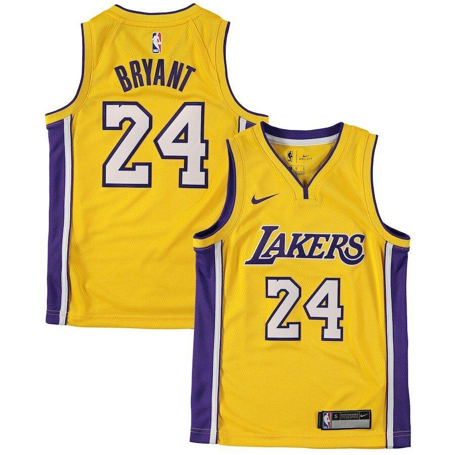 14151627f11 Details about Authentic Nike Kobe Bryant  24 Los Angeles Lakers NBA Home  Jersey (Youth Boys L)
