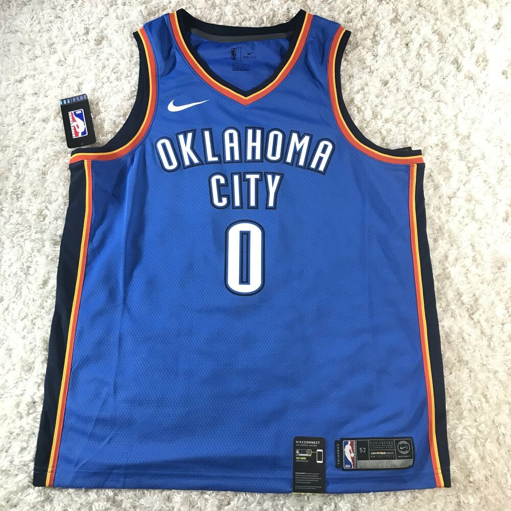 adce7a91ad4 Details about Nike Russell Westbrook OKC Thunder Icon Edition Swingman NBA  Jersey Men's XL