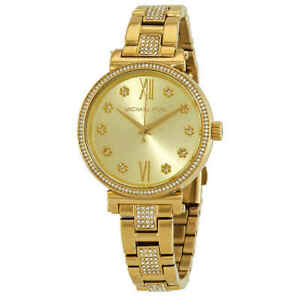 Michael Kors Sofie Pave Crystal Gold Dial Ladies Watch MK3881