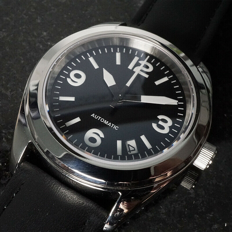 17682c37a Details about Custom Seiko Mod Sinn 656 Style Homage Pilot Military Aviator  39mm NH35 movt