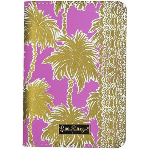 lilly-pulitzer-passport-cover-metallic-palms-nwt