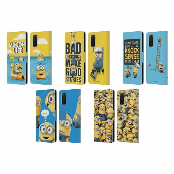 OFFICIAL DESPICABLE ME FUNNY MINIONS LEATHER BOOK CASE FOR SAMSUNG PHONES 1