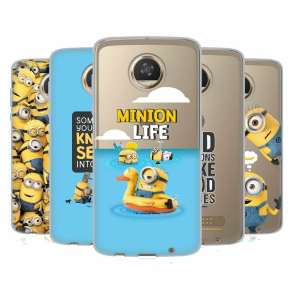 OFFICIAL DESPICABLE ME FUNNY MINIONS SOFT GEL CASE FOR MOTOROLA PHONES