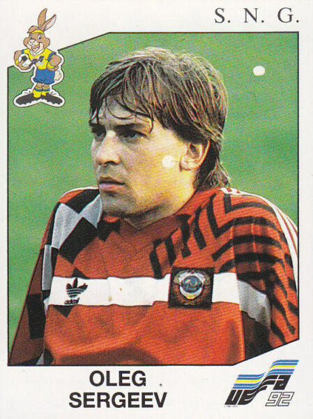 SERGEEV NEW WITH BLACK BACK TOP MINT!! Panini EURO 92 N 188 S.N.G