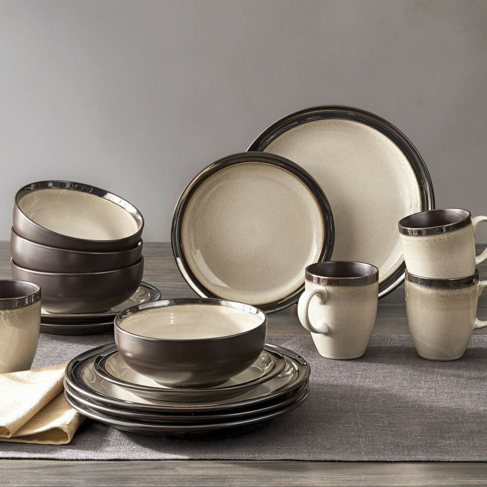 Better Homes and Gardens Beige Sierra Dinnerware Set, 16 Piece  eBay
