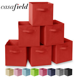 Kyпить 6 Collapsible Foldable Cloth Fabric Cubby Cube Storage Bins Baskets for Shelves на еВаy.соm